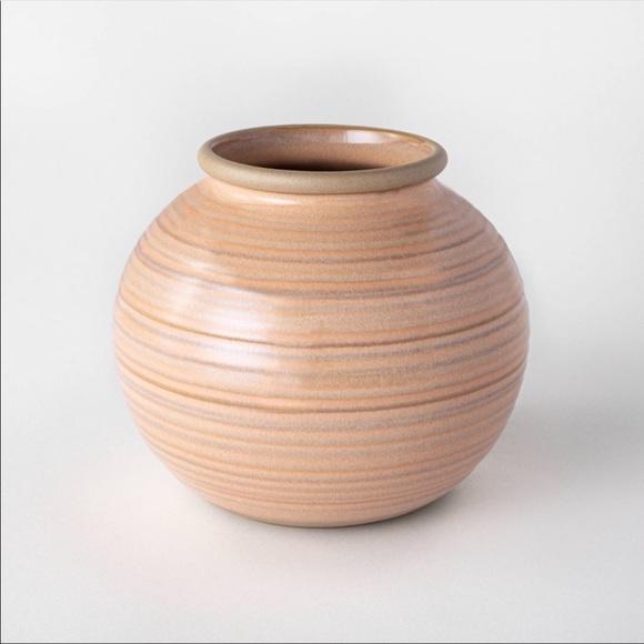 Studio McGee ceramic ribbed bud vase threshold